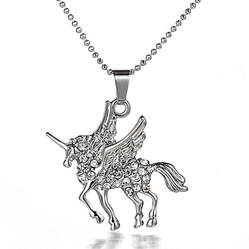white-gold-plated-crystal-encrusted-unicorn-short-necklace-18inch-organza-gift-pouch-included