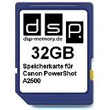 32GB Speicherkarte für Canon PowerShot A2500