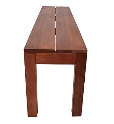 Hockerbank BRASILIA 150cm ohne Rückenlehne, Eukalyptus Hartholz von gartenmoebel-einkauf bei Gartenmöbel von Du und Dein Garten