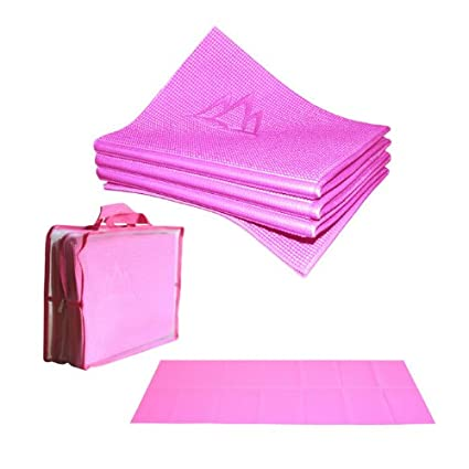 Khataland YoFoMat - Best Travel Yoga Mat, Foldable, with Travel Bag, Extra Long 72-Inch, Free From Phthalates & Latex