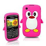 SKS Distribution® HOT DARK PINK Penguin For Blackberry Curve 8520 8530 9300 3G Cute Mobile Phone Case Cover