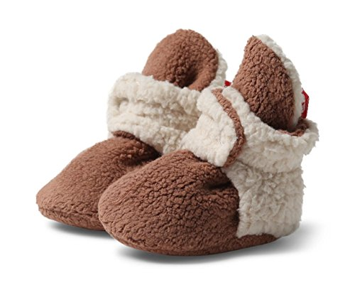 Zutano - Cozie Fleece Furry Lined Bootie -Chocolate - Size 6 month