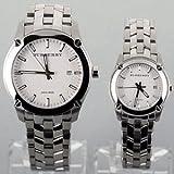 バーバリー BURBERRY New Heritage(ニューヘリテージ) ペア腕時計 カップル用ペアウォッチ(文字盤ホワイト )BU1852/BU1853 並行輸入品