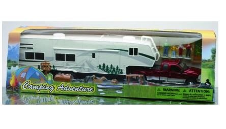 Camping Adventure 1:32 Ford Fifth Wheel Camping Set Truck Trailer Diecast and Accessories (1 32 Die Cast Trucks And Trailers compare prices)