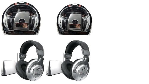 Sentry HO802 Wireless Headphones - 2 Pack of HO-800 with wireless transmitter