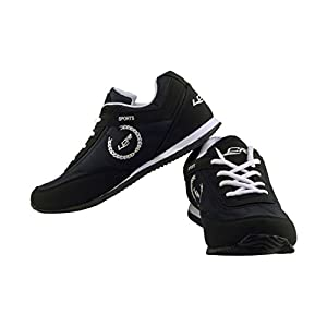 Lancer Men's Black and White Mesh Running Shoes (PERTH-$P)
