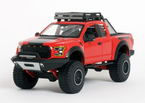 2017 Ford F-150 Raptor Pickup Truck Red Off Road Kings 1/24 by Maisto 32521 (Ford Raptor Model compare prices)