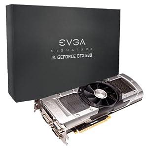 EVGA GeForce GTX690 Signature 4096MB GDDR5 512bit, Dual GPU, 2xDVI-I,DVI-D,mDisplayPort, Quad SLI Ready Graphics Cards 04G-P4-2692-KR