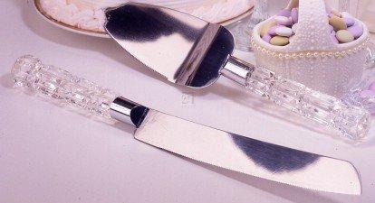 Fifth Avenue Crystal Acrylic Cake Knife Set