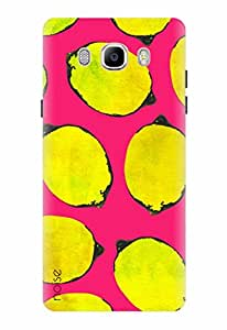 Noise Designer Printed Case / Cover for Samsung Galaxy On8 / Nature / Lemon On Pink Design