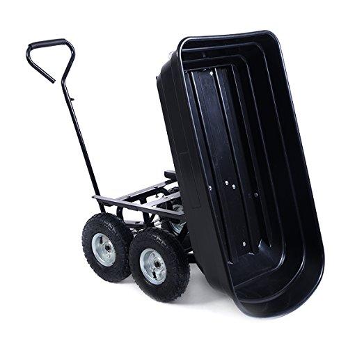 650LB Garden Dump Cart Dumper Wagon Carrier Wheel Barrow Air Tires Heavy Duty NEW (Trailer Cart compare prices)