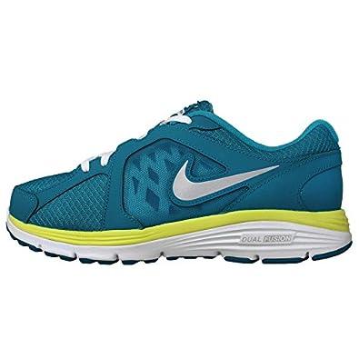 Nike Kid's Dual Fusion Run (GS) Running Shoes-N TRQ/MTLLC SLVR-6