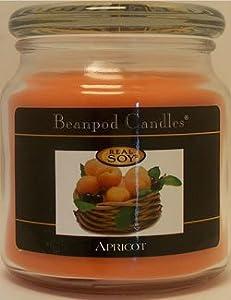 Beanpod Candles, Apricot, 16-Ounce
