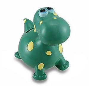 Childrens green bobble head dinosaur coin bank - Dinosaur piggy banks ...