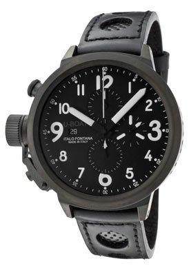 U Boat Flightdeck Z 50 CAB 3 Black Dial Chronograph Black Leather Mens Watch 6121