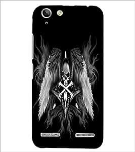 PrintDhaba Skull and Bone D-2197 Back Case Cover for LENOVO LEMON 3 (Multi-Coloured)