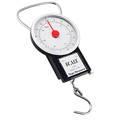32KG PORTABLE TRAVEL SUITCASE BAGGAGE LUGGAGE WEIGHING SCALE HOOK WEIGHT Fusion (TM)