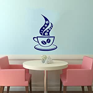 cup of coffee smoke cafe dining room kitchen decor wall