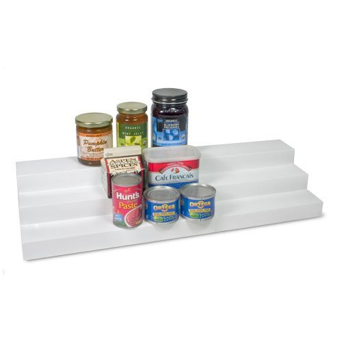 """Expand-A-Shelf (Low Profile), Adjustable from 14.25"""" to 27"""", White color, Textured non-slip surface"""