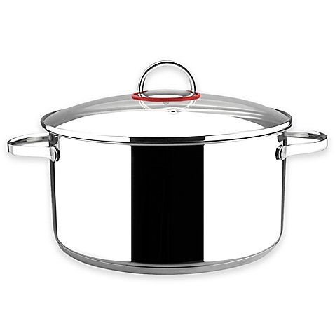 Magefesa 6 qt. Nova Stockpot with Glass Lid Collection (Rachel Ray Steamer Orange compare prices)