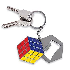 rubiks cube bottle opener keychain toys games. Black Bedroom Furniture Sets. Home Design Ideas