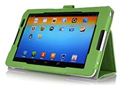 IVSO Lenovo Tab S8-50 Slim-Book Stand Cover with Card Holder / Hand Strap-Will ony fit Lenovo Tab S8 Tablet (Green)
