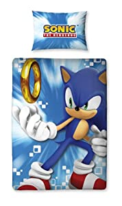 Character World 135 x 200 cm Sonic the Hedgehog Spin Single Panel Duvet Set