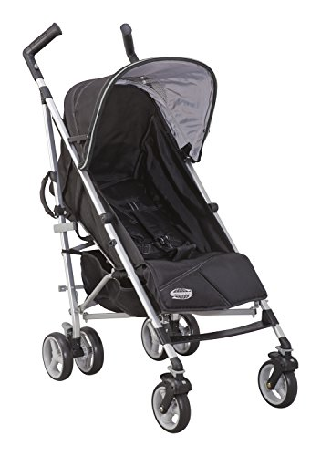 Delta Children Comfort Tech Tour LX Stroller, Black & Grey