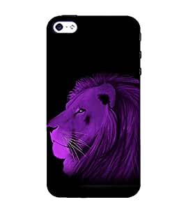 printtech Nature Animal Lion Abstract Back Case Cover for Apple iPhone 4S