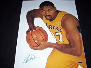 Upper Deck Authentic Ron Artest Autograph 16x20 Lakers Photo by MVP TRADING CARDS