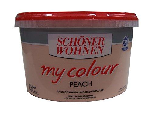 5 l sch ner wohnen my color wandfarbe peach matt 2 99eur l. Black Bedroom Furniture Sets. Home Design Ideas