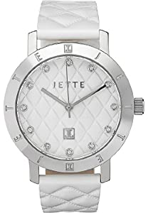 JETTE Time Damen-Armbanduhr MODERN BASIC Analog Quarz One Size, weiß, weiß