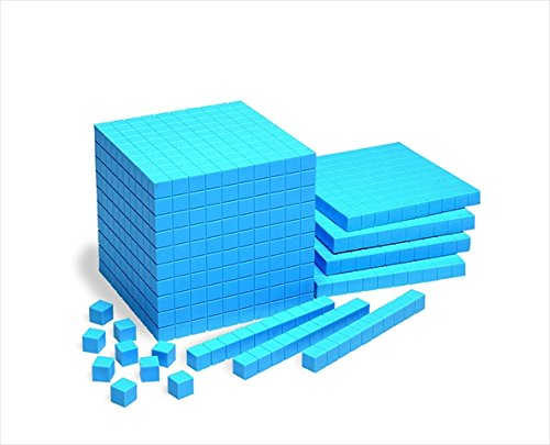 School Smart Base Ten Components - Plastic Cube 10 x 10 x 10 cm - Each - 1