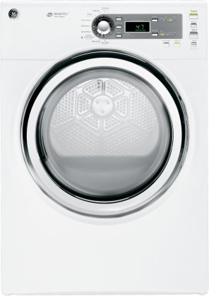 GE GFDS140EDWW 7.0 Cu. Ft. White Stackable With Steam Cycle Electric Front Load Dryer