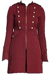 Steve Madden Women's Three Quarter Long Jacket Blazer Red (Small)