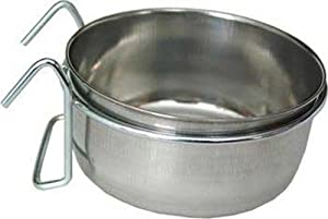 Loving Pets Coop-Cup with Wire Hanger Pet Bowl, 10-Ounce