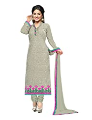 Aarti Saree Fashionable Party Wear Grey Straight Suit Available In Matching Dupatta And Bottom