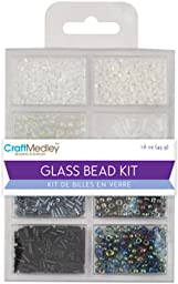 Glass Bead Kit 45Grams/Pkg-Black & White Classic - Glass Bead Kit 45Grams/Pkg-Black Sizes; And Colors. This Pack Age Contains 1.6 Oz Of Beads. Available In A Variety Of Designs; Each Sold Separately.