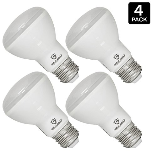 Great Eagle (4-pack) LED BR20 or R20 Dimmable Light Bulb. 7W (60W) UL Listed Bright White 3000K Light Bulb for Recessed, Track, and Pendant Lighting Fixtures - USA Seller (Br40 Bulb Halogen compare prices)