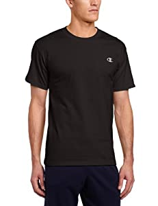 Champion Men's Jersey T-Shirt, Black, Medium