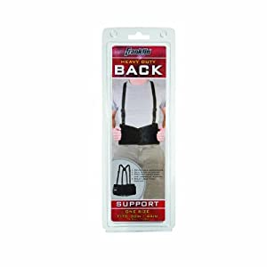 Franklin Sports Industrial Style Back Support (Fits 30-44-Inch) by Franklin