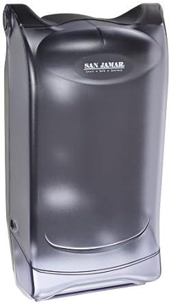 "San Jamar H5005P Venue Wall Mount Fullfold Control Napkin Dispenser, 600 Capacity, 8"" Width x 15-3/4"" Height x 7-3/4"" Depth, Clear"