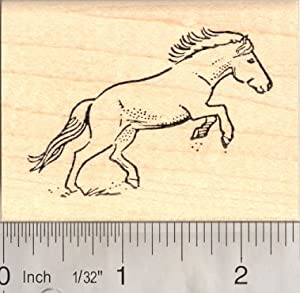 Running Horse Rubber Stamp