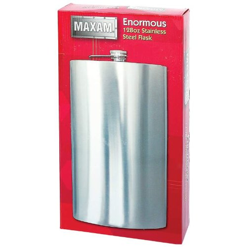 Maxam Enormous One Gallon Novelty Stainless Steel Flask-128 Ounce