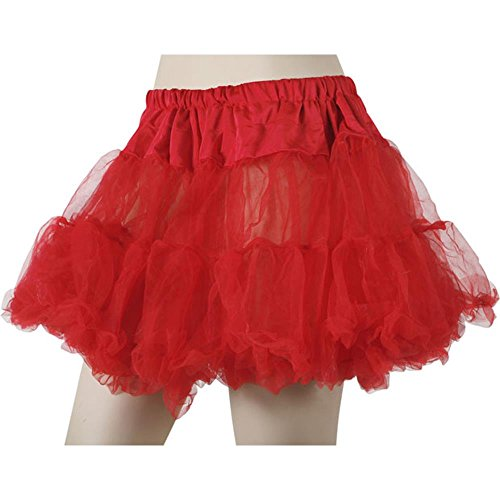 Women's Red Soft Tulle Petticoat