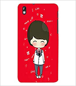 PrintDhaba Cartoon D-4256 Back Case Cover for HTC DESIRE 816 (Multi-Coloured)