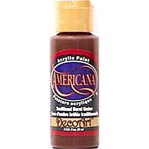 DecoArt Americana Acrylic Paints traditional burnt umber 2 oz.