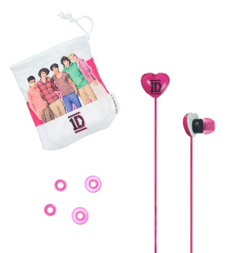 1D One Direction Pink Earbuds With Carry Pouch