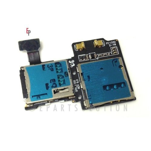 ePartSolution-Samsung Galaxy S4 SGH-i337 Flex Cable Memory  Sim Card Tray Slot Holders Connector Replacement Part USA Seller by JM Int'L [並行輸入品]