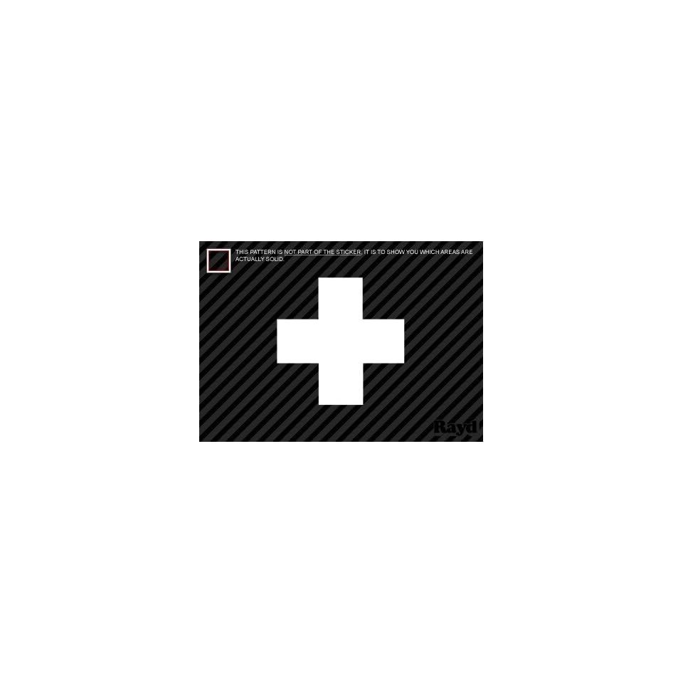(2x) First Aid Cross   Sticker #1   Decal   Die Cut